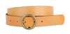 Circle Thin Buckle Belt in camel by Most Wanted