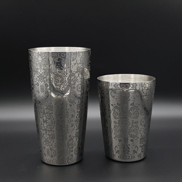 Toby Tin Engraved Paisley Cocktail Shaker Set - Cocktail Corner