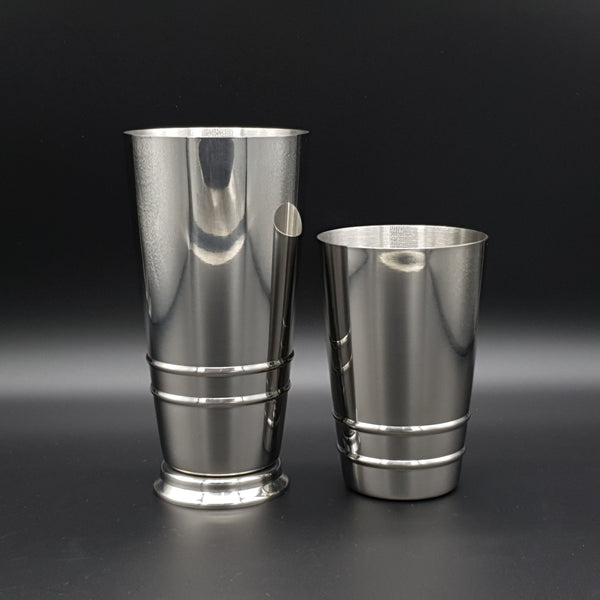 Flat Bottom/Footed Cocktail Shaker 2 Piece - Cocktail Corner