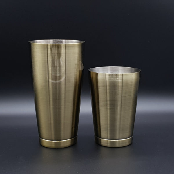 Weighted Toby Tin Cocktail Shaker Set - Antique Bronze - Cocktail Corner