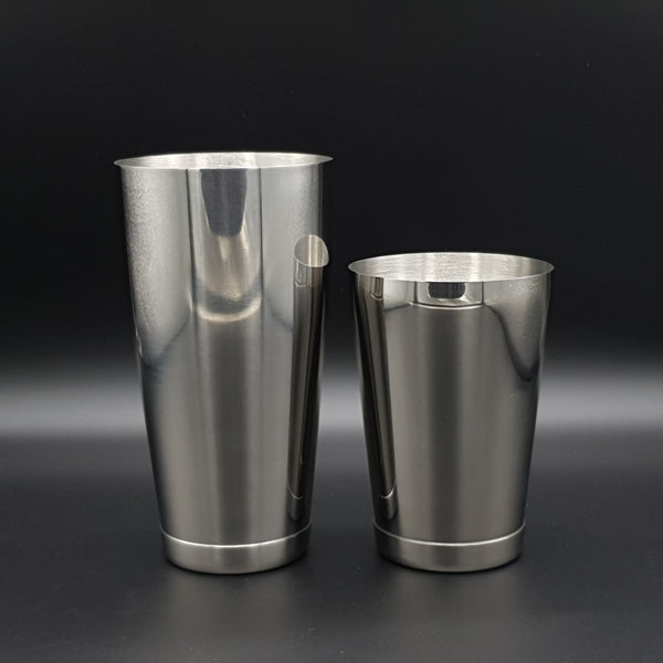 Premium Weighted Toby Tin Cocktail Shaker Set - Stainless - Cocktail Corner