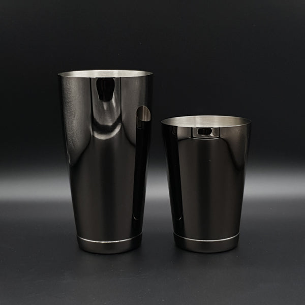 Weighted Toby Tin Cocktail Shaker Set - Black - Cocktail Corner