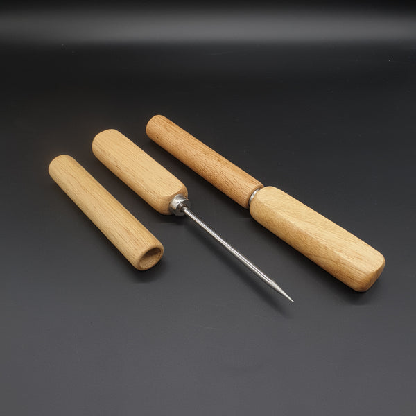 Single Spike Ice Pick Wooden Handle - Cocktail Corner