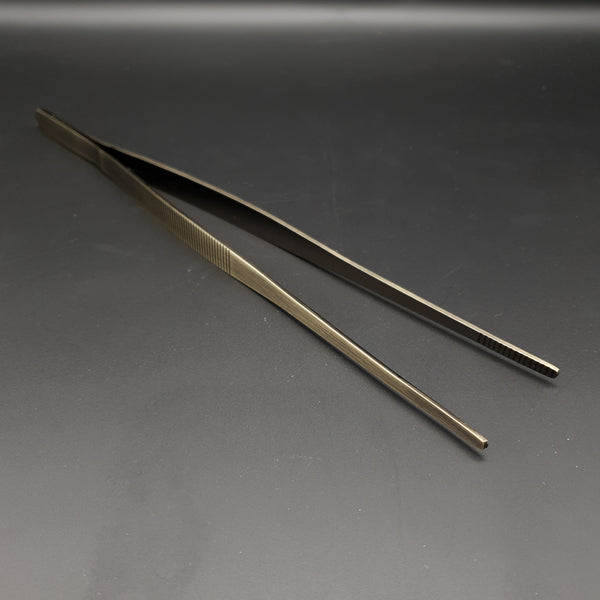 Large Cocktail Garnish Tweezers 30cm - Antique Bronze - Cocktail Corner