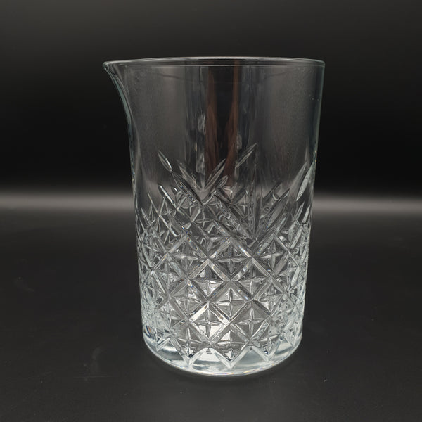 725ml Cocktail Mixing Glass - Crystal Cut Pattern - Cocktail Corner