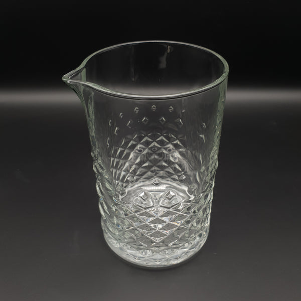 750ml Cocktail Mixing Glass - Diamond Pattern - Cocktail Corner