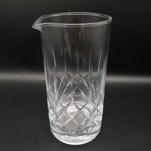 Tall Cut Crystal Mixing Glass - Cocktail Corner