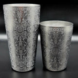Toby Tin Engraved Antique Paisley Cocktail Shaker Set - Cocktail Corner