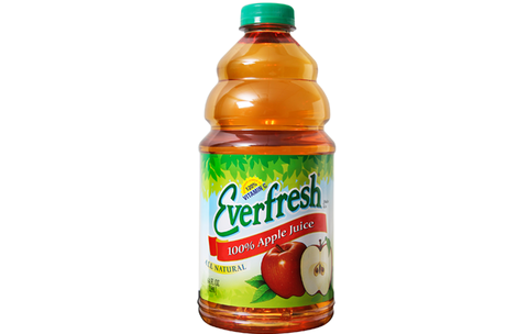 Everfresh Juice 100% Apple Juice - Plastic Bottle 64 oz