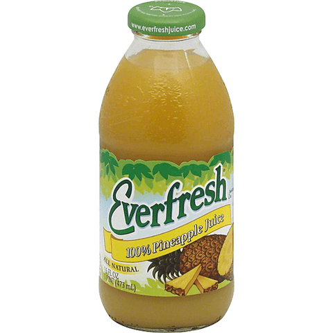 Everfresh Juice 100% Pineapple Juice 16 oz
