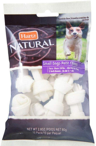 Hartz small rawhide bones natural
