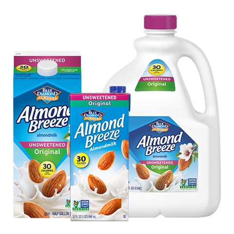 Blue Diamond Nuts & Milk Beverages Unsweetened Original 1 QT PK