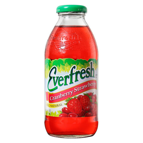 Everfresh Juice Cranberry Strawberry 16 oz