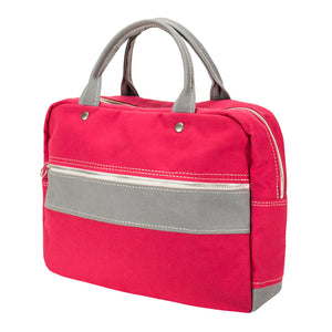 BRIEF TOTE - Deep Pink × Gray