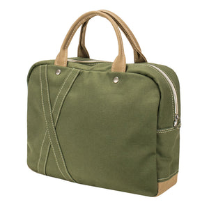 BRIEF TOTE - Moss Green × Cork