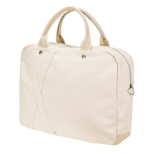 BRIEF TOTE - Natural × Beige