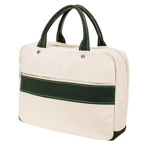 BRIEF TOTE - Natural × Green