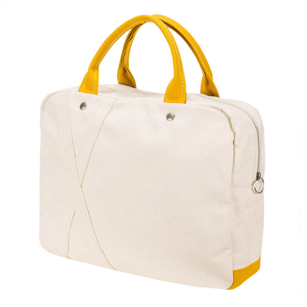 BRIEF TOTE - Natural × Mustard