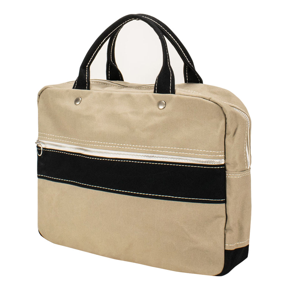 BRIEF TOTE - Sand Beige × Black