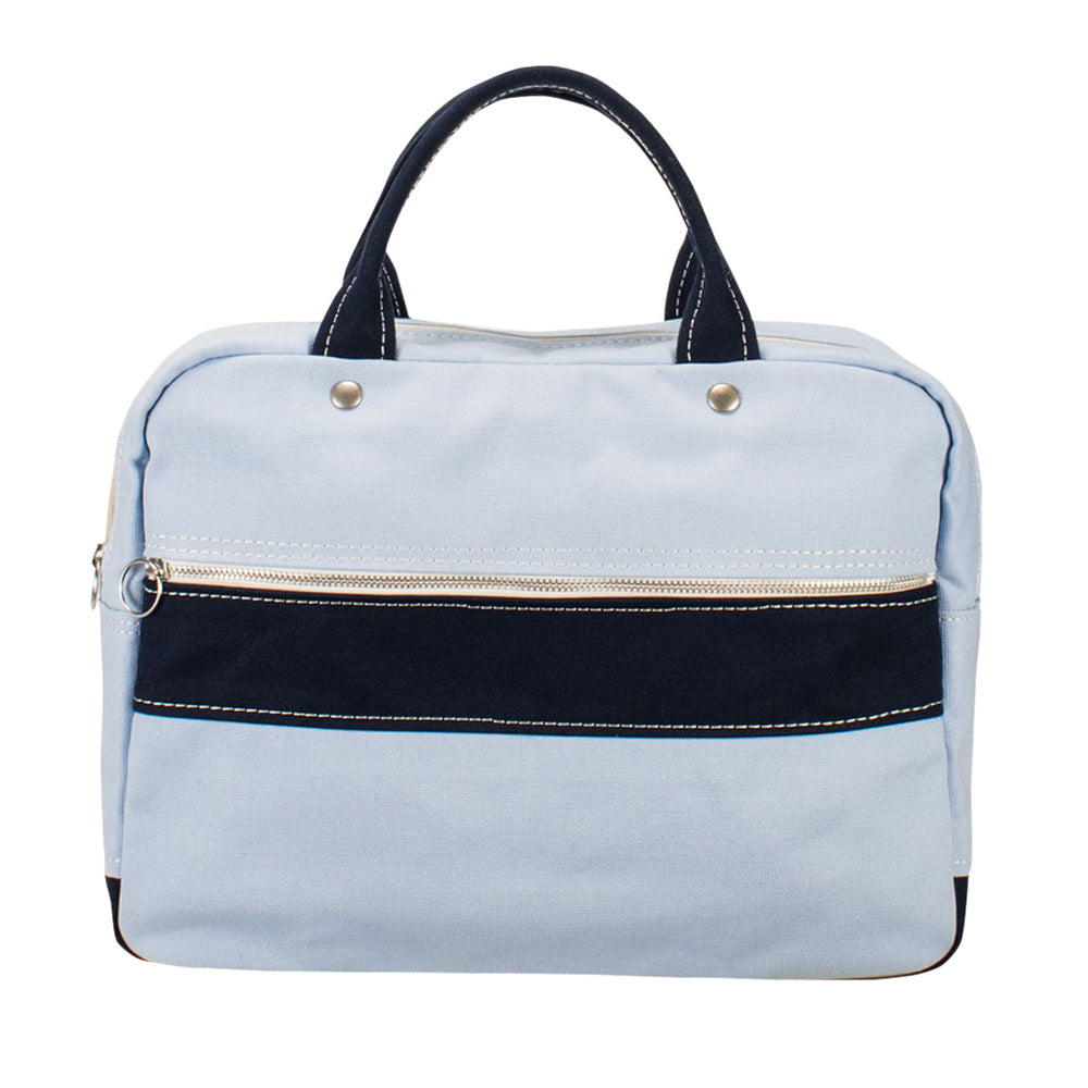 BRIEF TOTE - Saxe × Navy