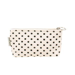 COIN CASE - Black Polka Dots
