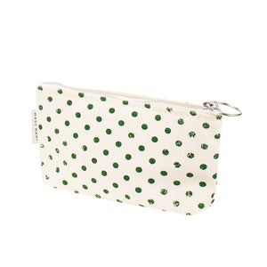 COIN CASE - Green Polka Dots
