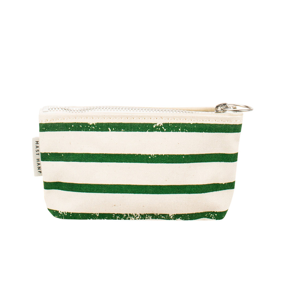 COIN CASE - Green Stripe