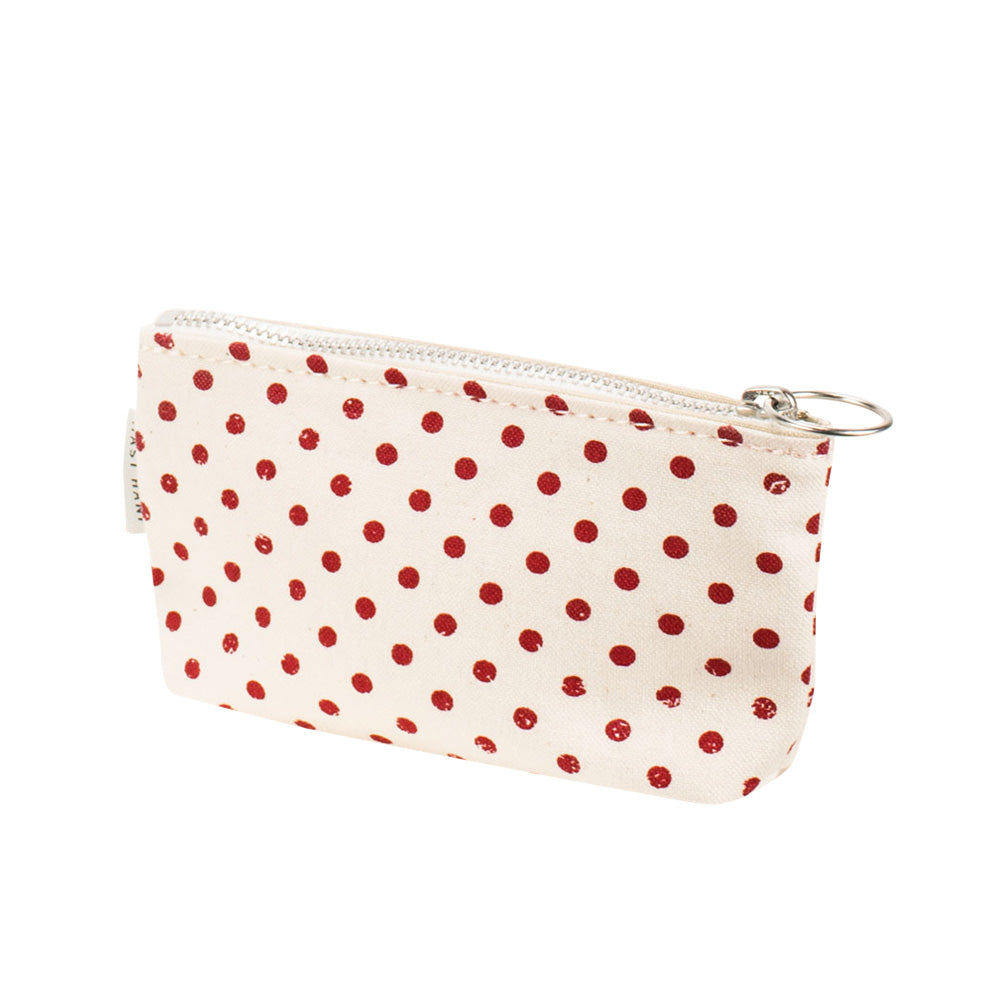 COIN CASE - Red Polka Dots