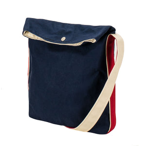 CYCLE SHOULDER - Navy × Red × Natural