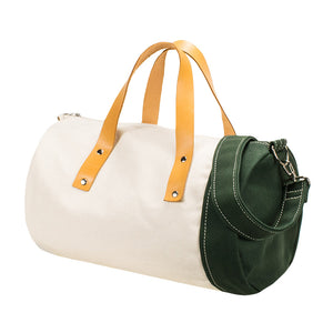 DUFFLE SHOULDER - Natural × Green