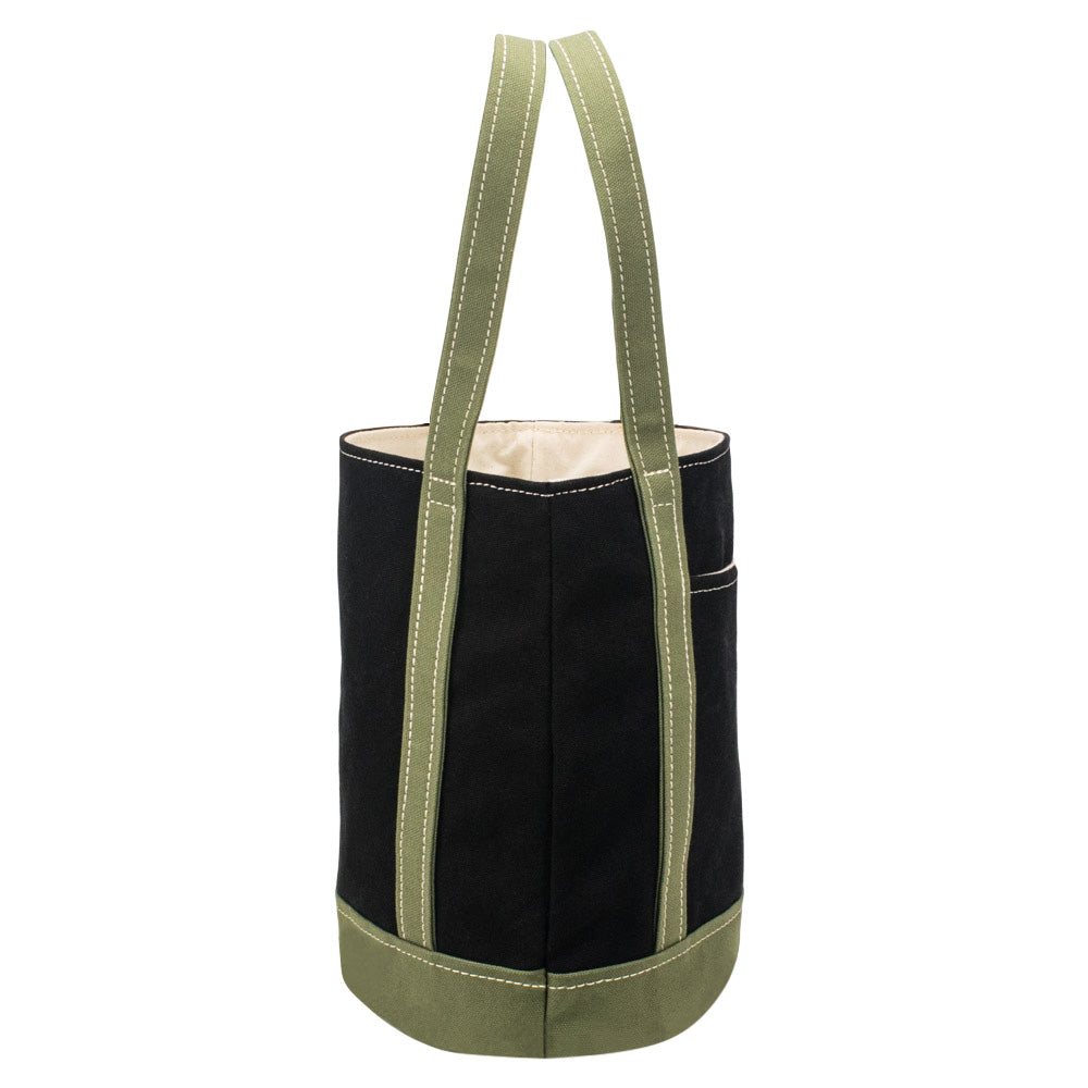 FLOAT TOTE - Black × Moss Green