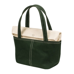 LID TOTE - Natural × Green
