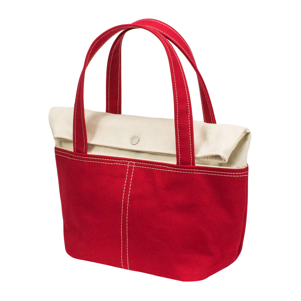 LID TOTE - Natural × Red