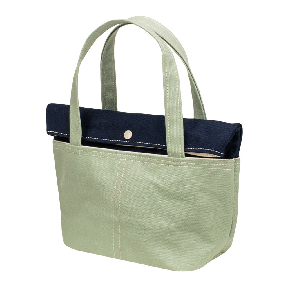 LID TOTE - Navy × Mint