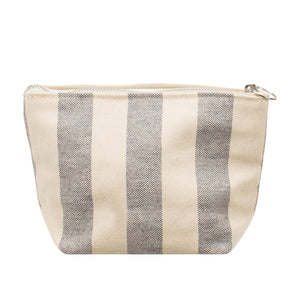 MINIMAL POUCH - Natural × Blue Stripe