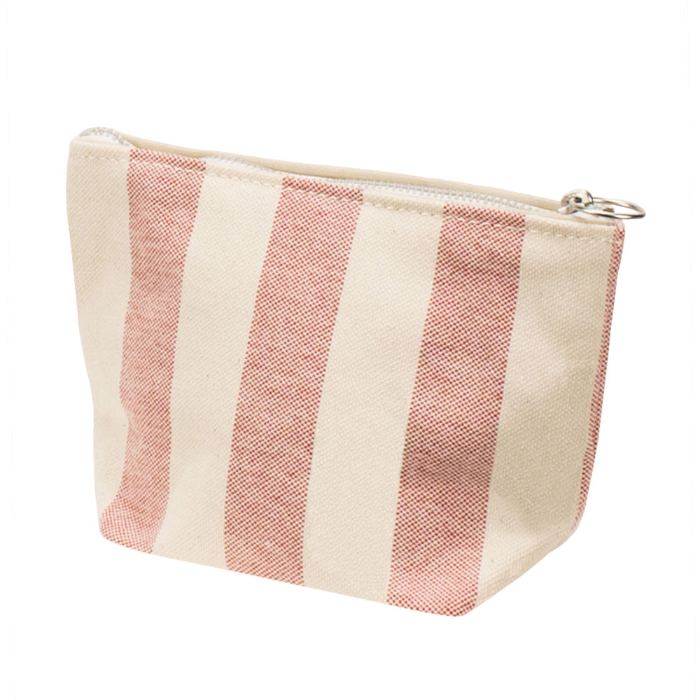 MINIMAL POUCH - Natural × Red Stripe