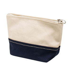 MINIMAL POUCH - Natural × Navy