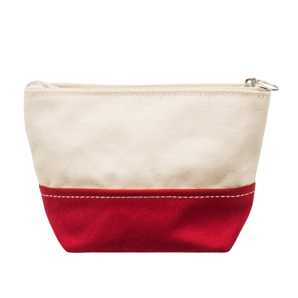 MINIMAL POUCH - Natural × Red