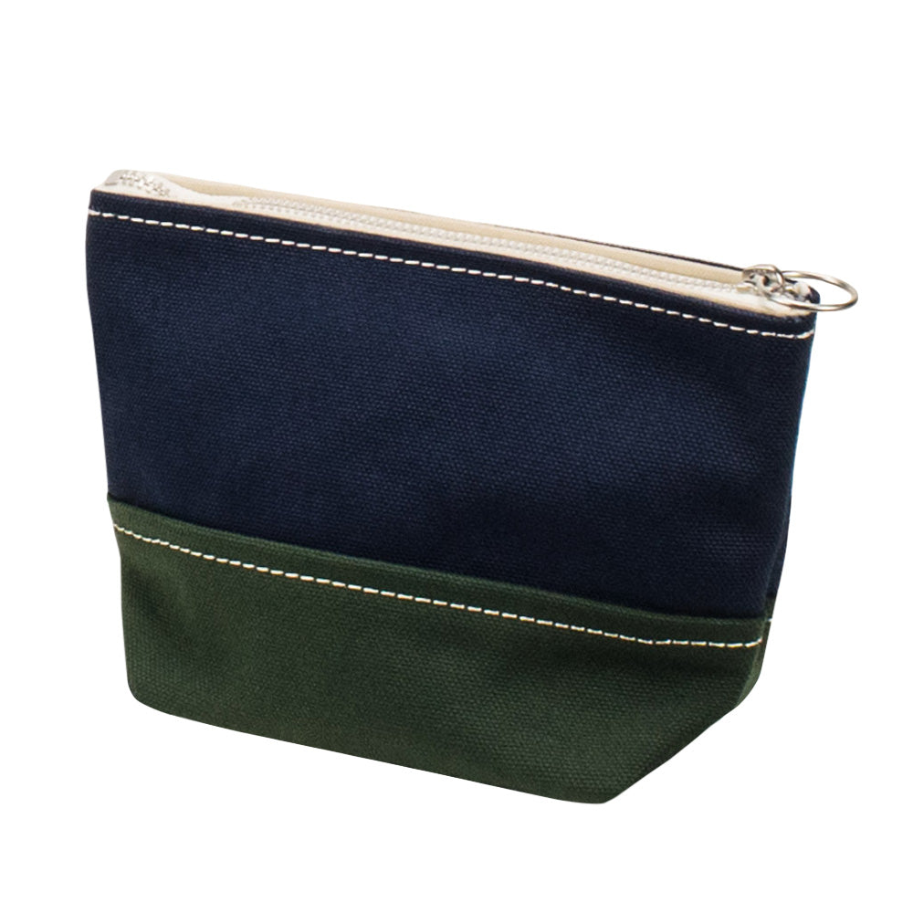 MINIMAL POUCH - Navy × Green