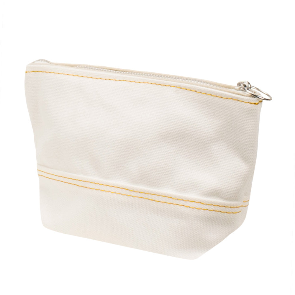 MINIMAL POUCH - Off White × Yellow Stitch