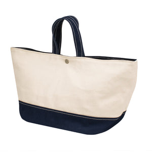 MINIMAL TOTE - Natural × Navy