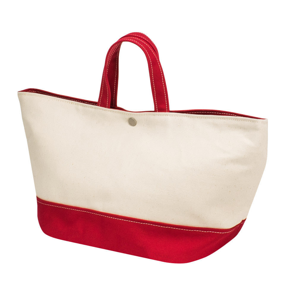 MINIMAL TOTE - Natural × Red