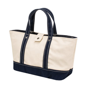 PARK TOTE - Natural × Navy