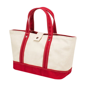 PARK TOTE - Natural × Red