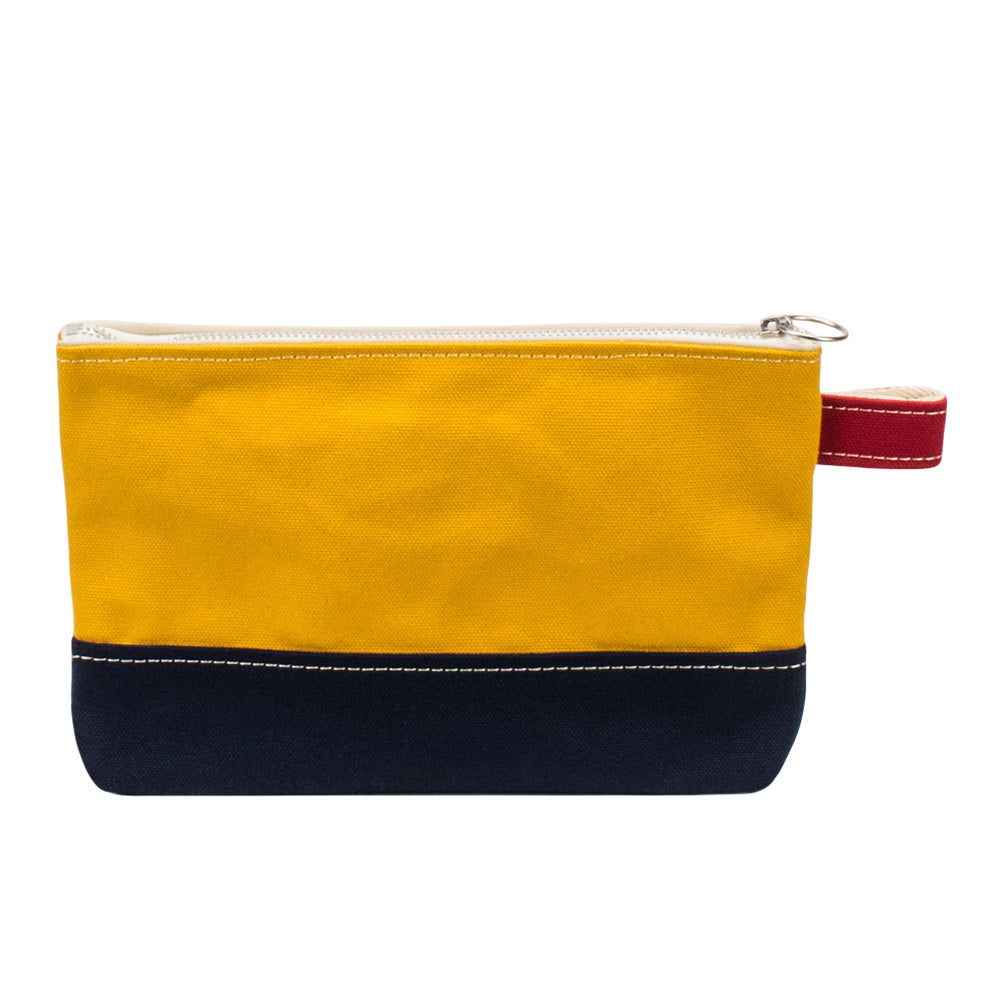 PLAY POUCH - Mustard × Navy × Red