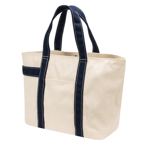 PLAY TOTE - Natural × Navy
