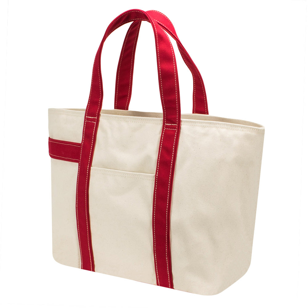 PLAY TOTE - Natural × Red