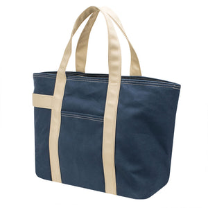 PLAY TOTE - Navy Blue × Beige