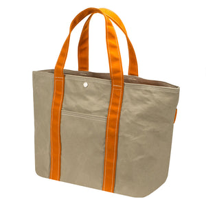 PLAY TOTE - Sand Beige × Orange