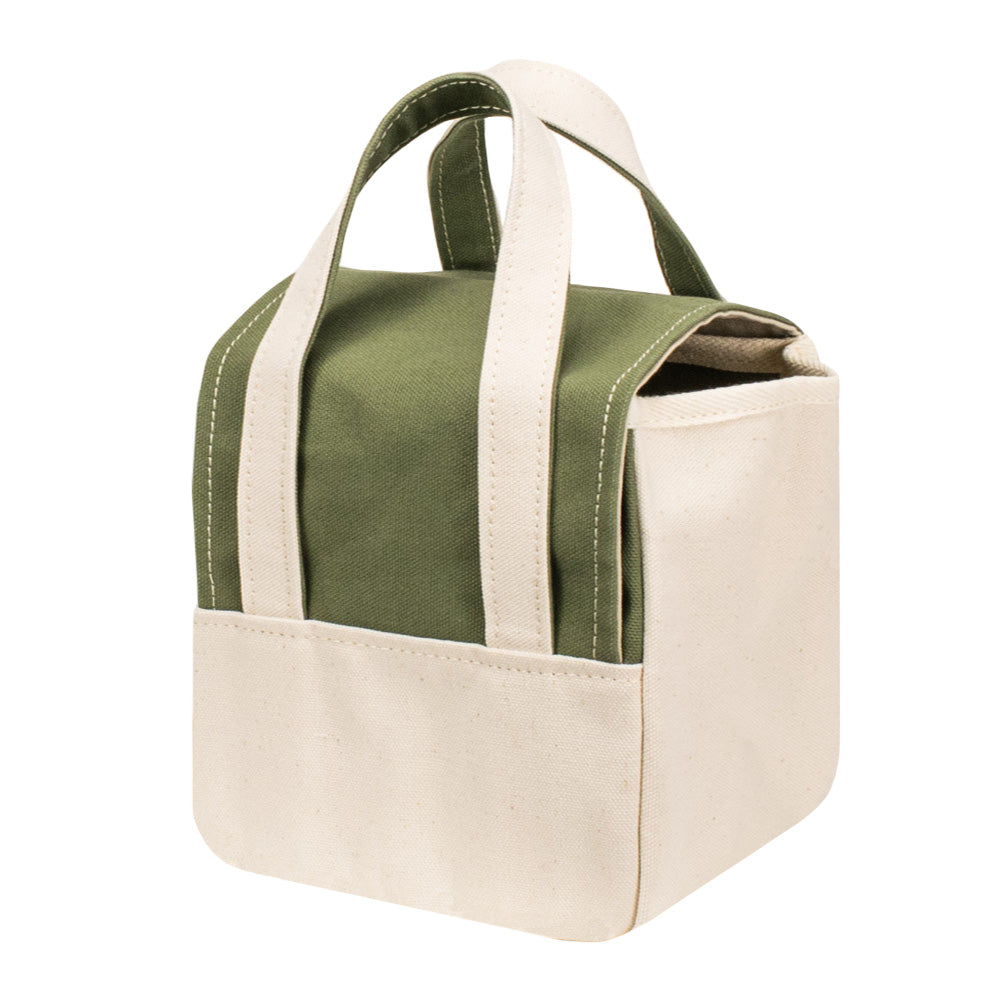 ROOM BAG - Moss Green × Natural